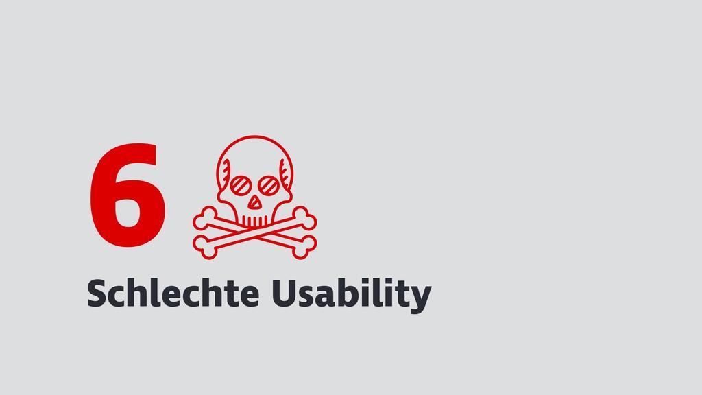 Schlechte Usability 6