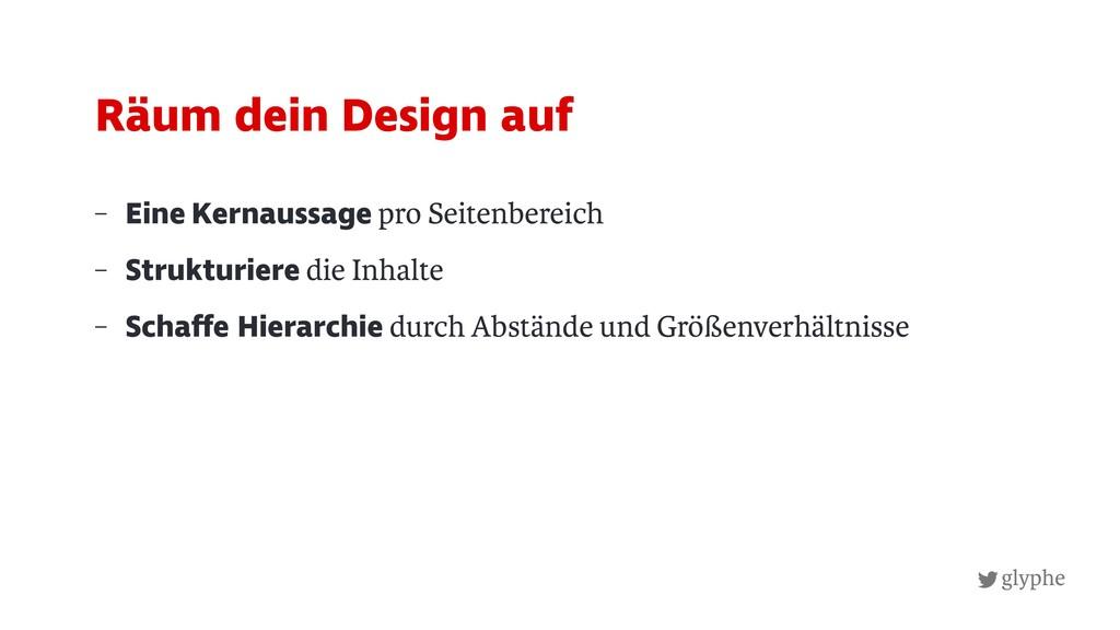 glyphe – Eine Kernaussage pro Seitenbereich – S...