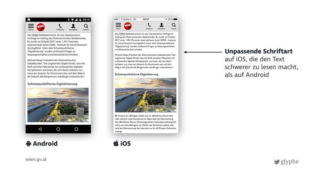 glyphe wien.gv.at Unpassende Schriftart auf iOS...
