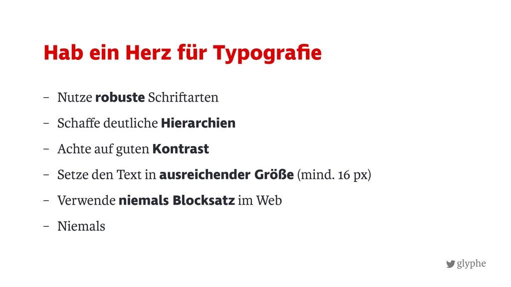 glyphe – Nutze robuste Schri arten – Schaffe deu...