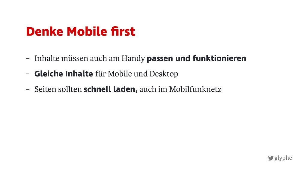 glyphe – Inhalte müssen auch am Handy passen un...