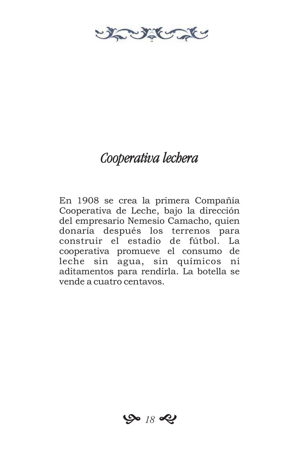 Cooperativa lechera En 1908 se crea la primera ...