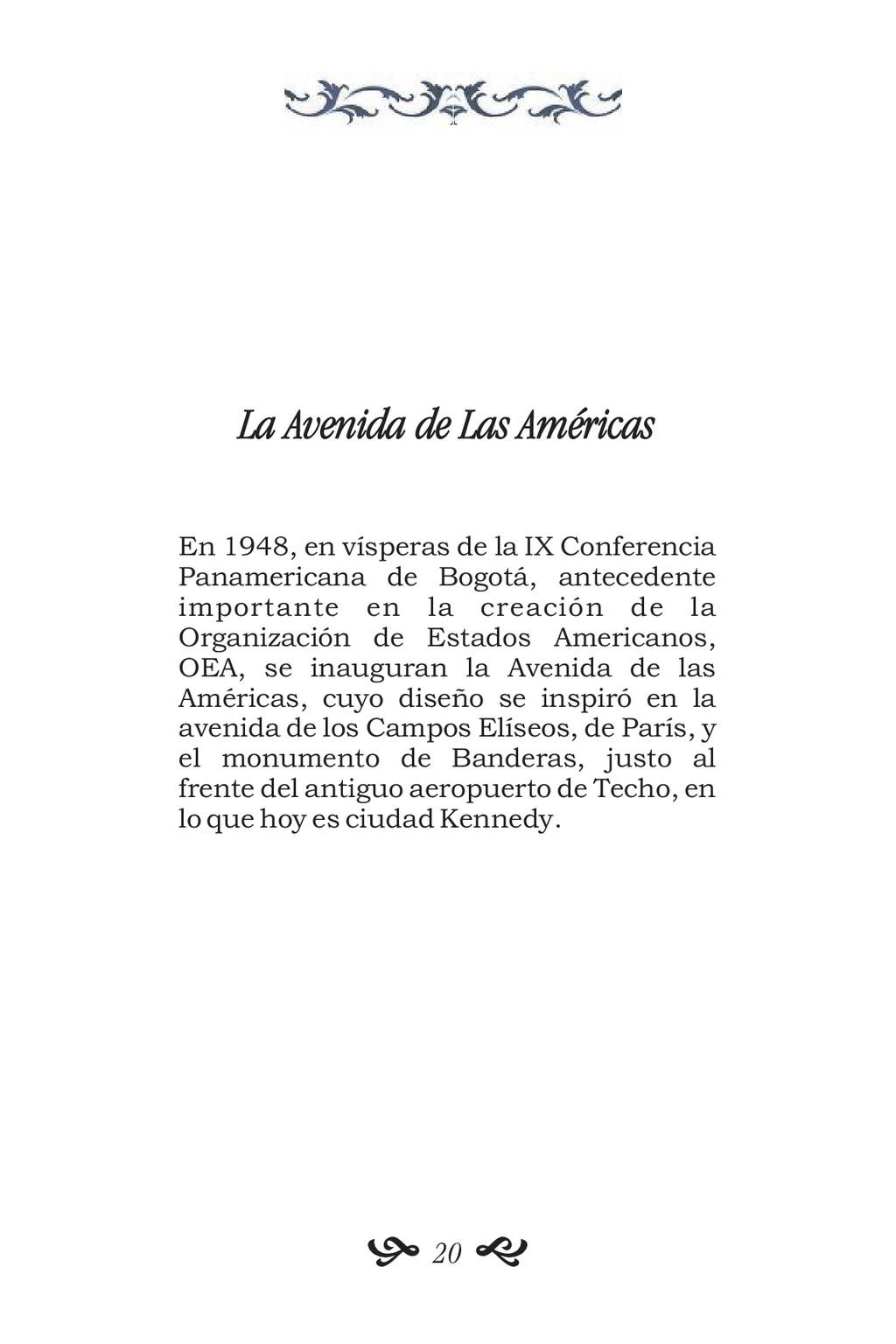 La Avenida de Las Américas En 1948, en vísperas...