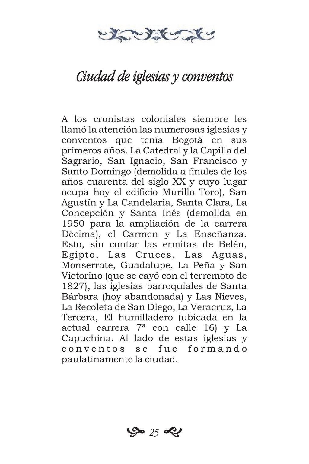Ciudad de iglesias y conventos A los cronistas ...