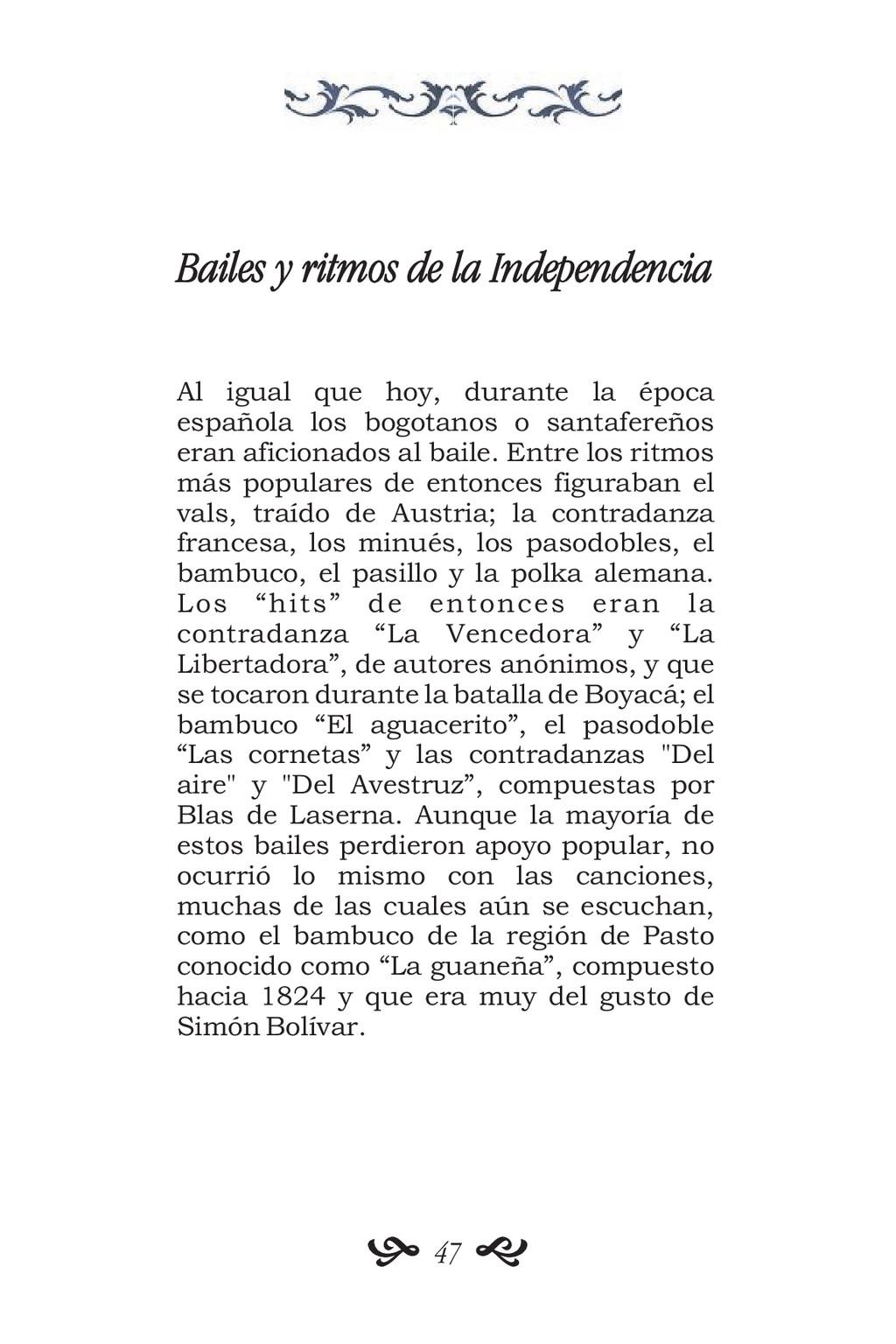 Bailes y ritmos de la Independencia Al igual qu...