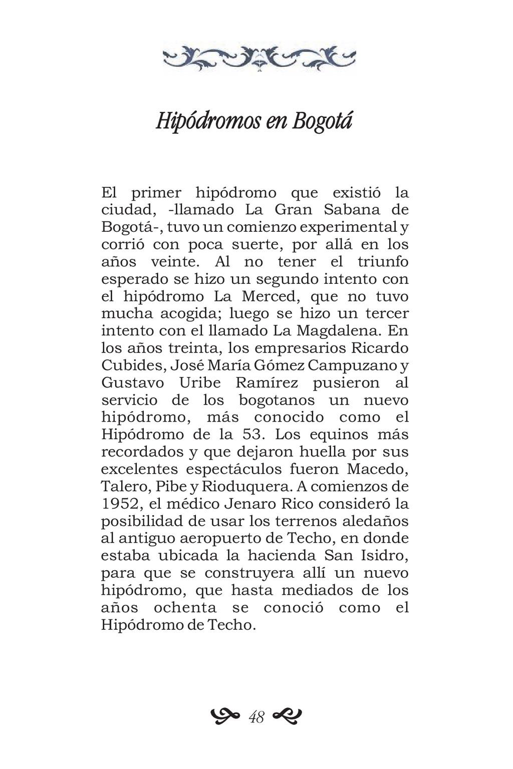 Hipódromos en Bogotá El primer hipódromo que ex...