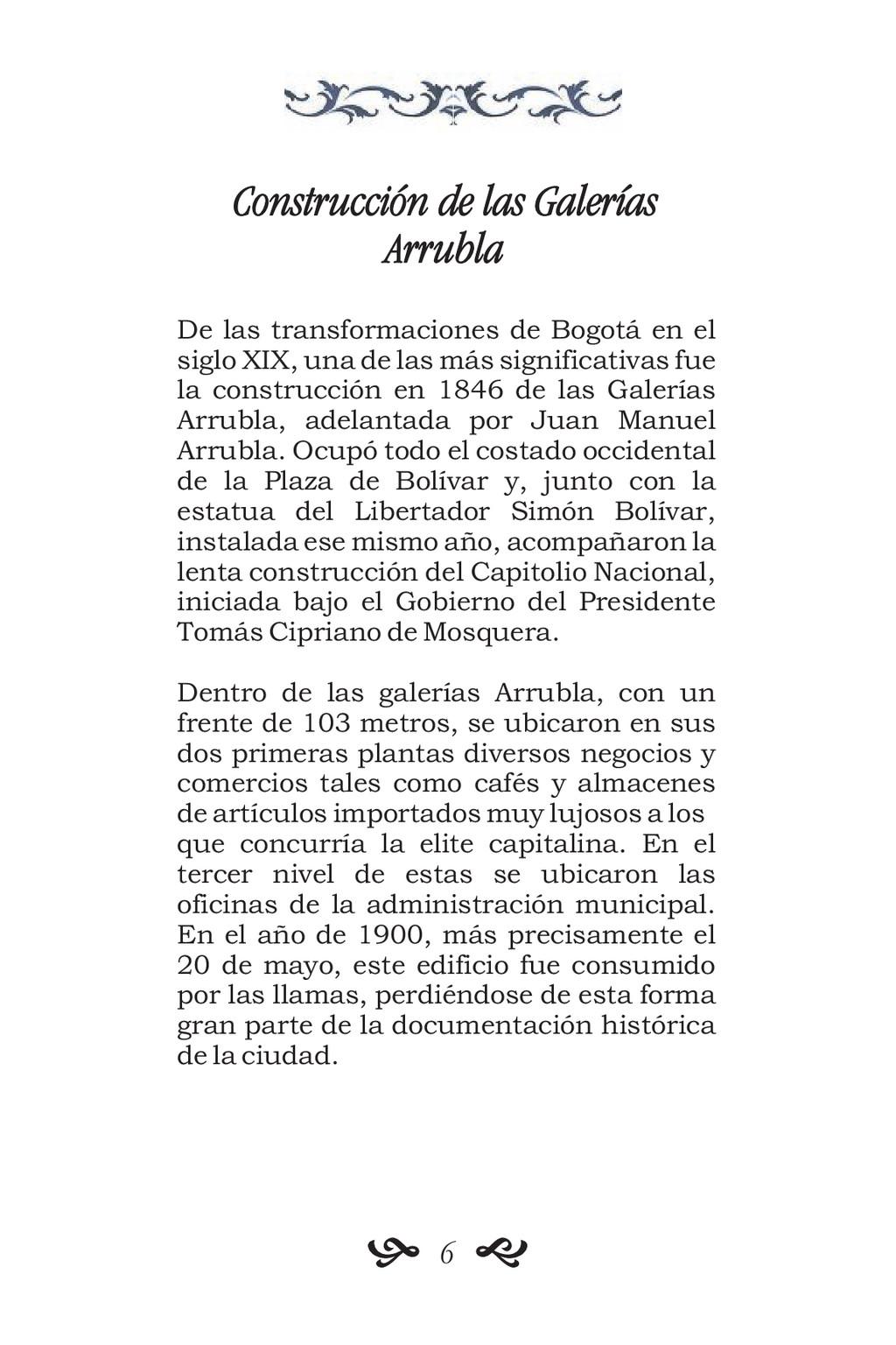 Construcción de las Galerías Arrubla De las tra...