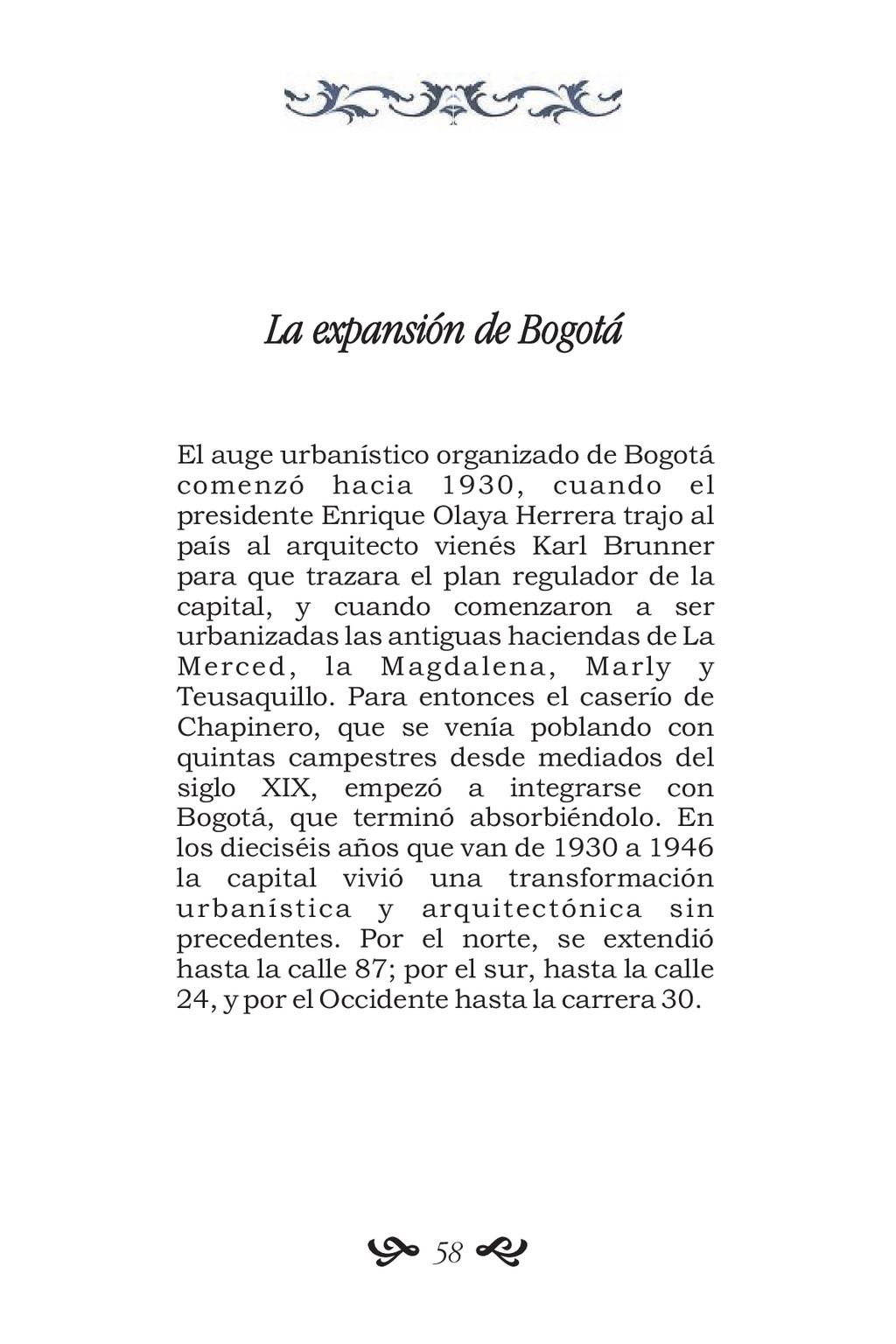 La expansión de Bogotá El auge urbanístico orga...