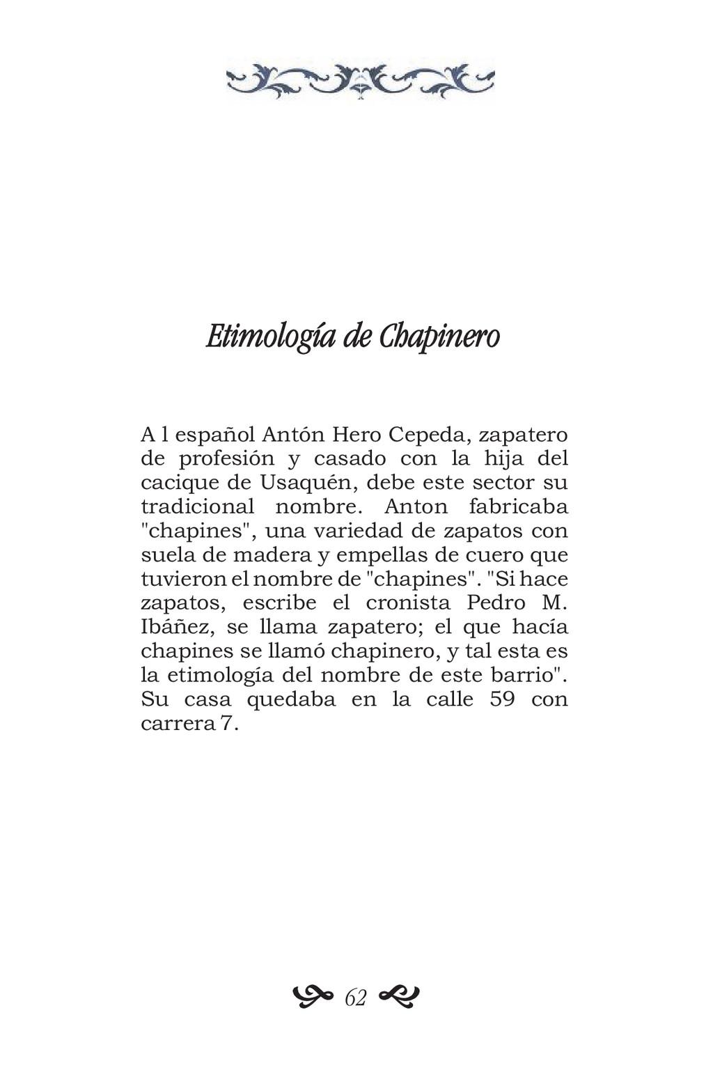 Etimología de Chapinero A l español Antón Hero ...