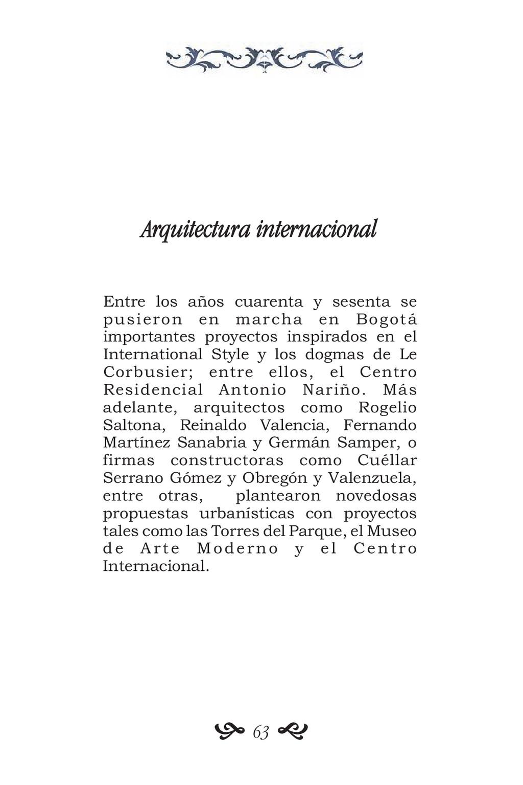 Arquitectura internacional Entre los años cuare...