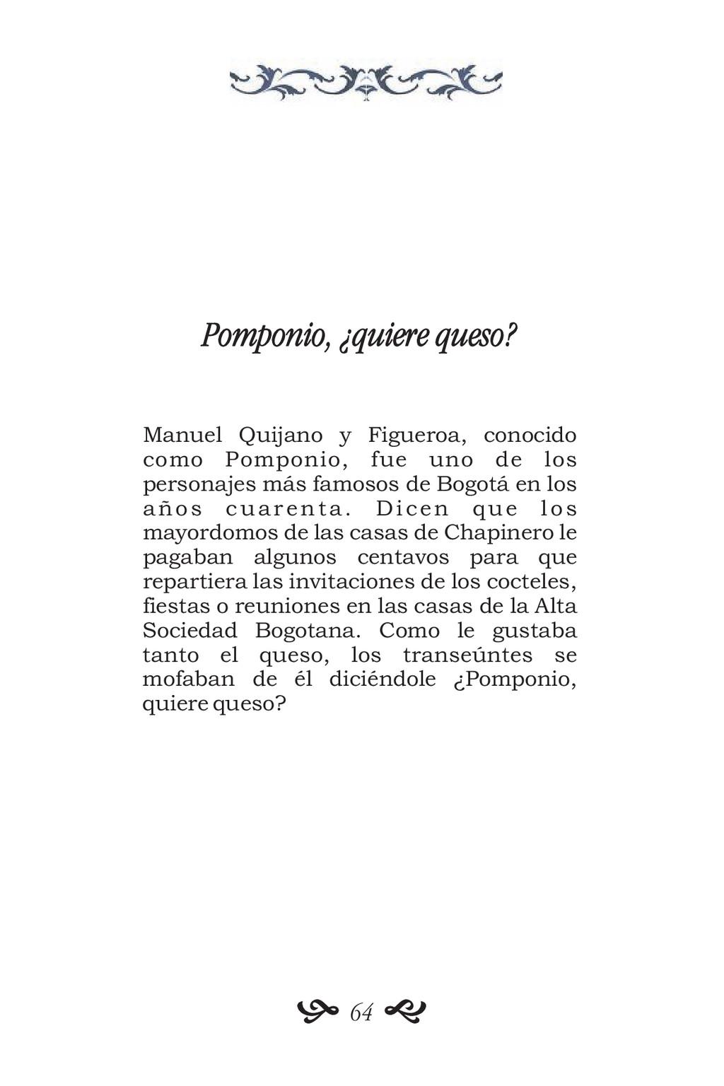 Pomponio, ¿quiere queso? Manuel Quijano y Figue...