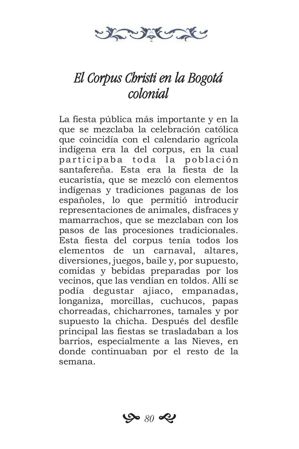El Corpus Christi en la Bogotá colonial La fies...