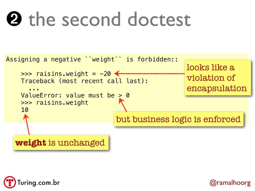 Assigning a negative ``weight`` is forbidden:: ...