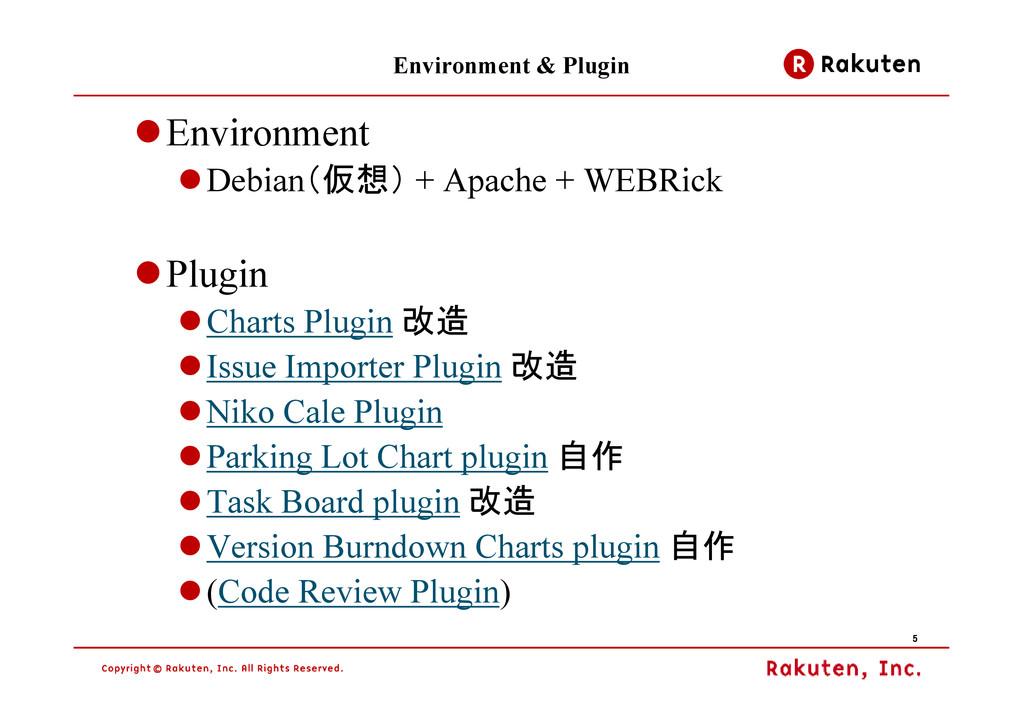 5 5 5 5 Environment & Plugin Environment Debian...