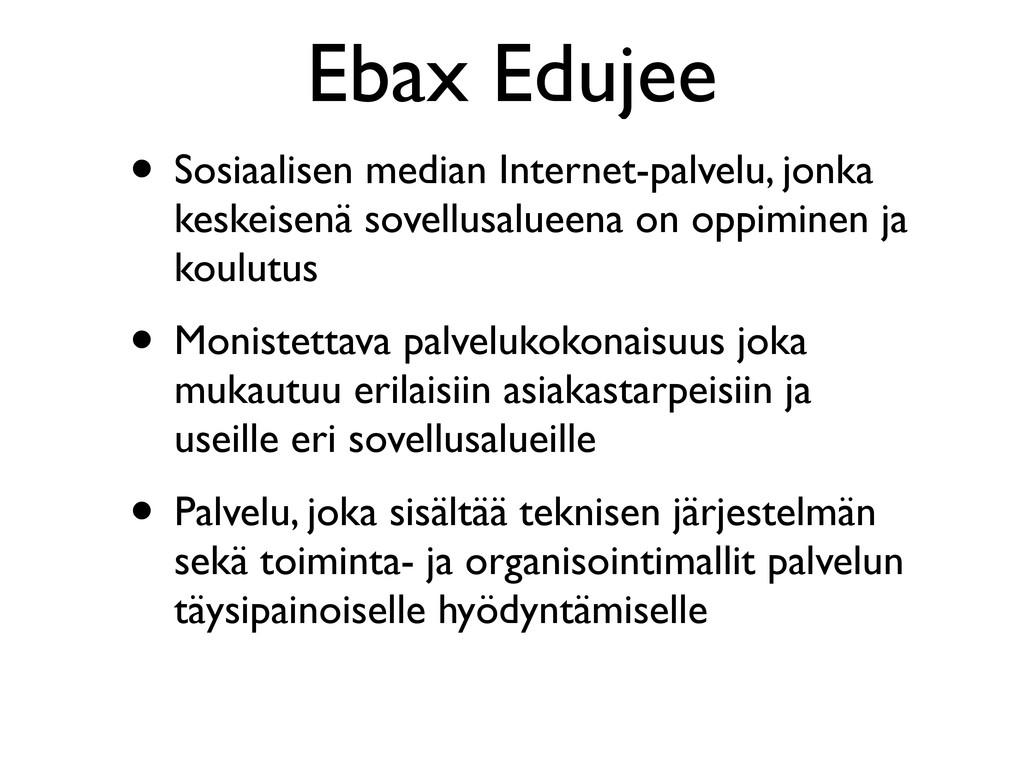 Ebax Edujee • Sosiaalisen median Internet-palve...