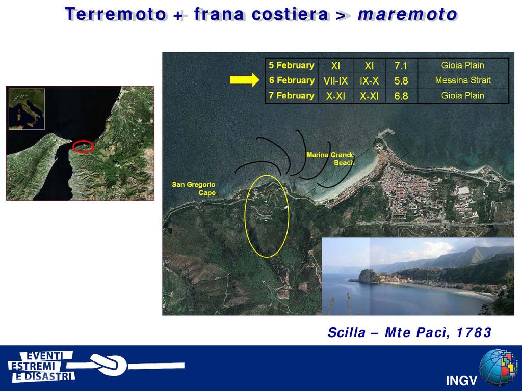 INGV 13 Scilla – Mte Pacì, 1783 Terremoto + fra...