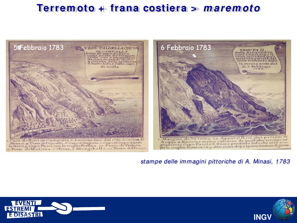 INGV 6 Febbraio 1783 5 Febbraio 1783 stampe del...