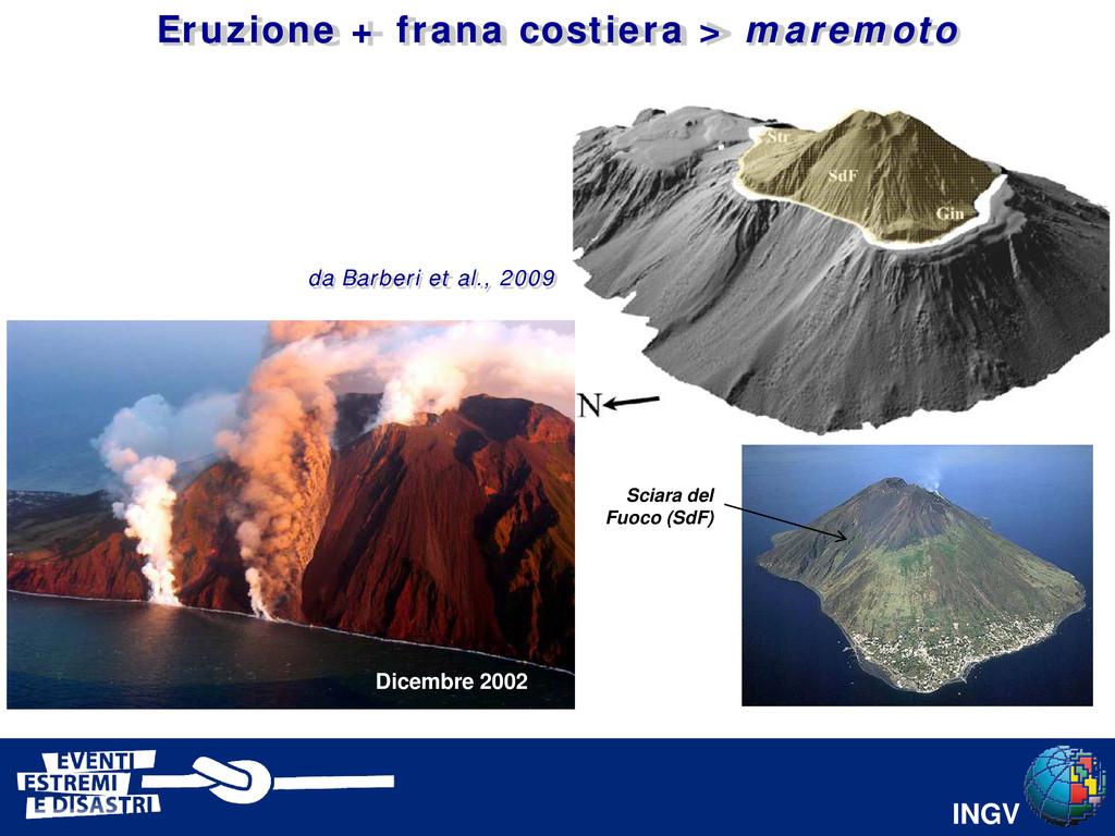 INGV da Barberi et al., 2009 Dicembre 2002 Scia...