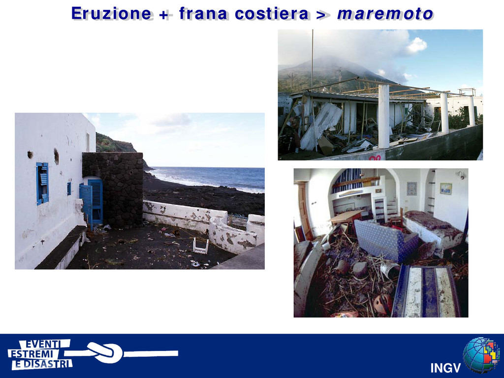 INGV Eruzione + frana costiera > maremoto