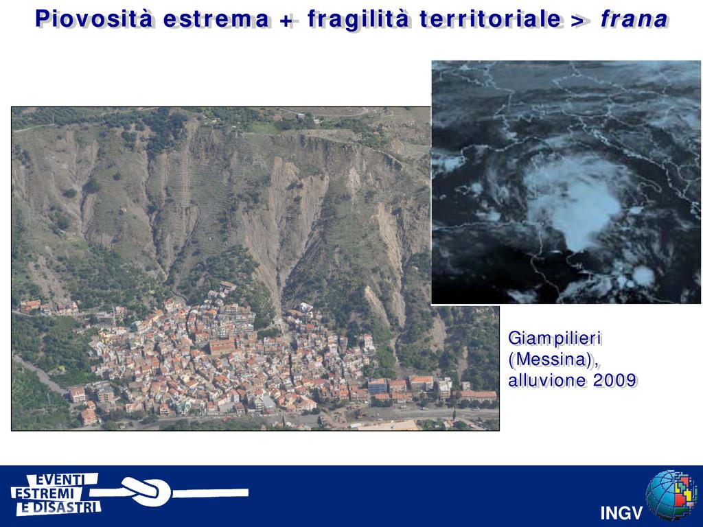 INGV Giampilieri (Messina), alluvione 2009 Piov...