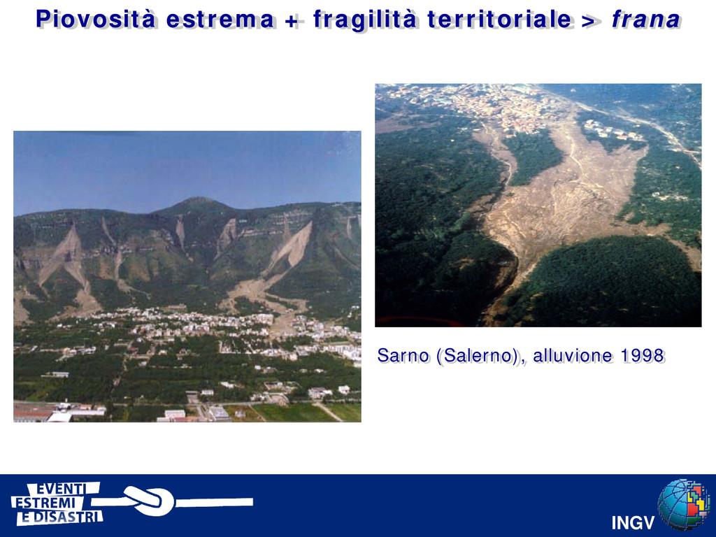 INGV Sarno (Salerno), alluvione 1998 Piovosità ...
