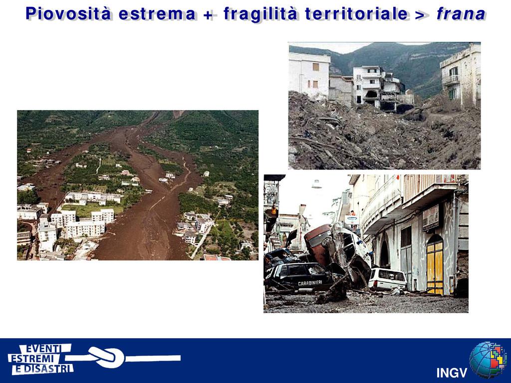 INGV Piovosità estrema + fragilità territoriale...