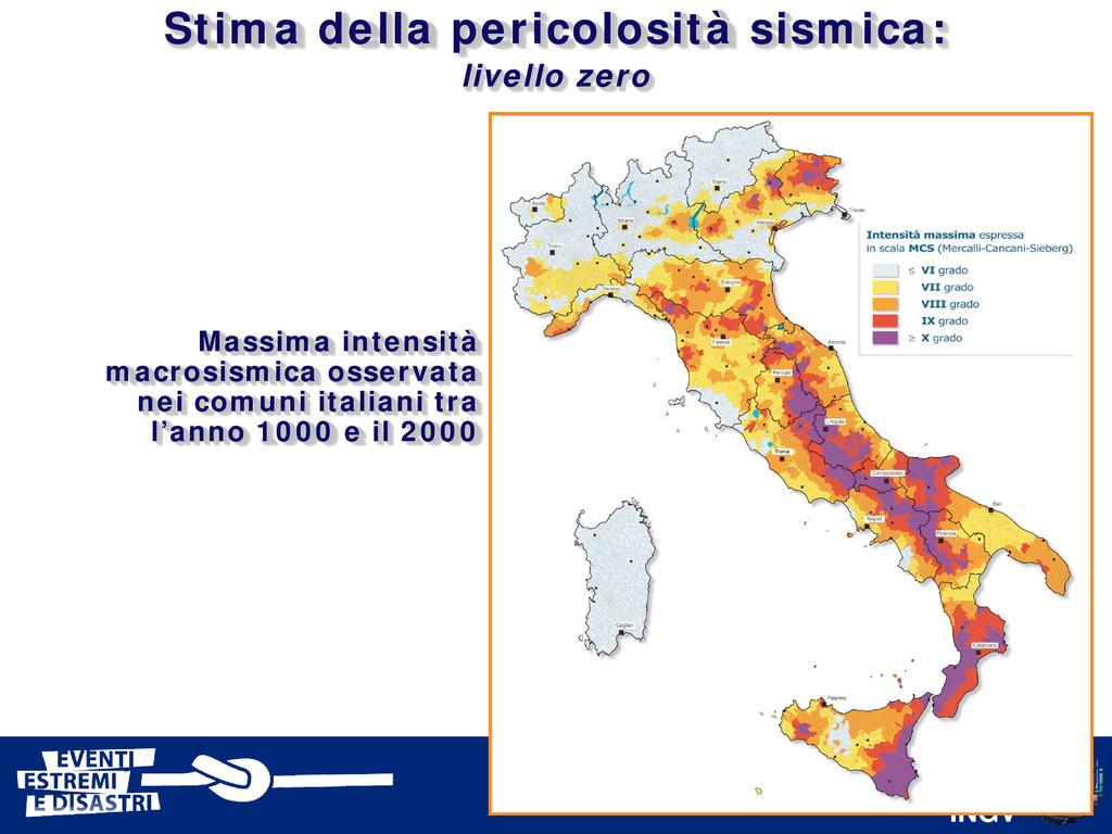 INGV Massima intensità macrosismica osservata n...