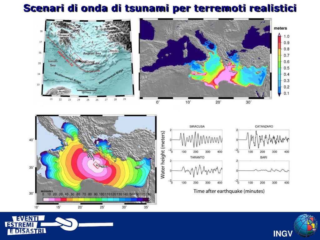 INGV Scenari di onda di tsunami per terremoti r...