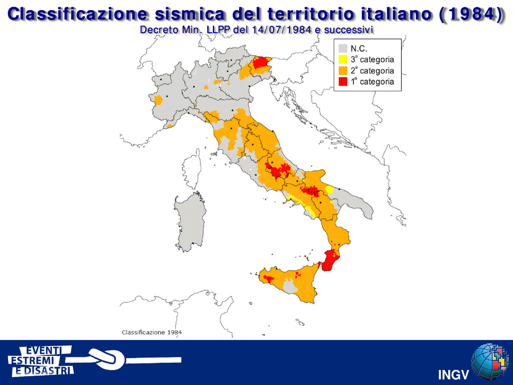 INGV Classificazione sismica del territorio ita...