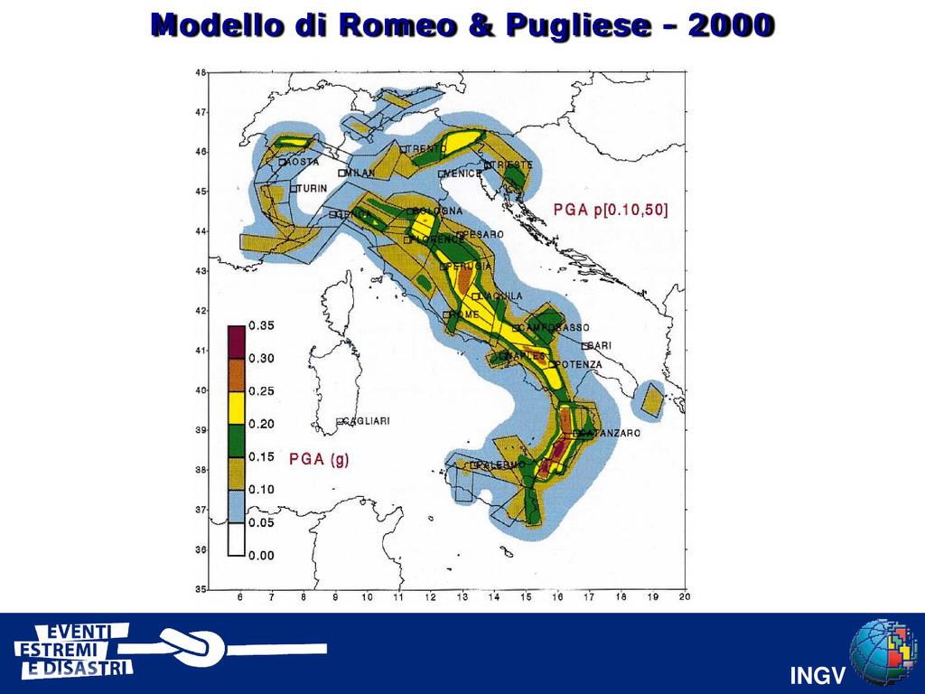 INGV PGA Modello di Romeo & Pugliese - 2000
