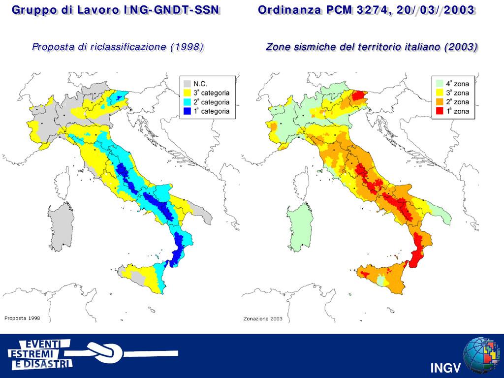 INGV Ordinanza PCM 3274, 20/03/2003 Gruppo di L...
