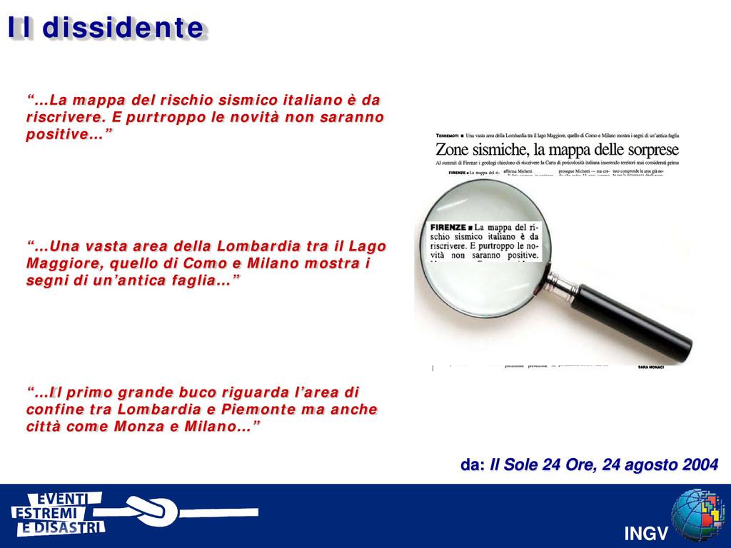 """INGV """"…La mappa del rischio sismico italiano è ..."""