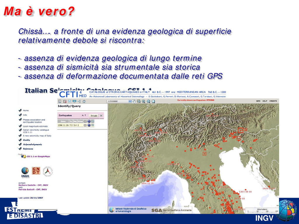INGV Chissà…. a fronte di una evidenza geologic...