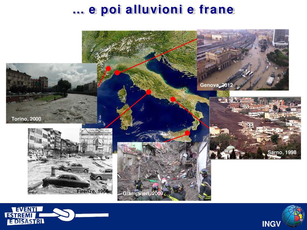 INGV Torino, 2000 Firenze, 1966 Giampilieri, 20...