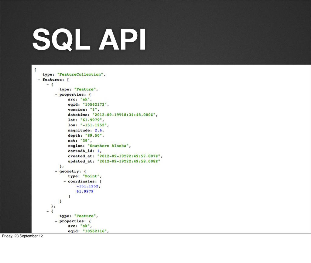 SQL API Friday, 28 September 12