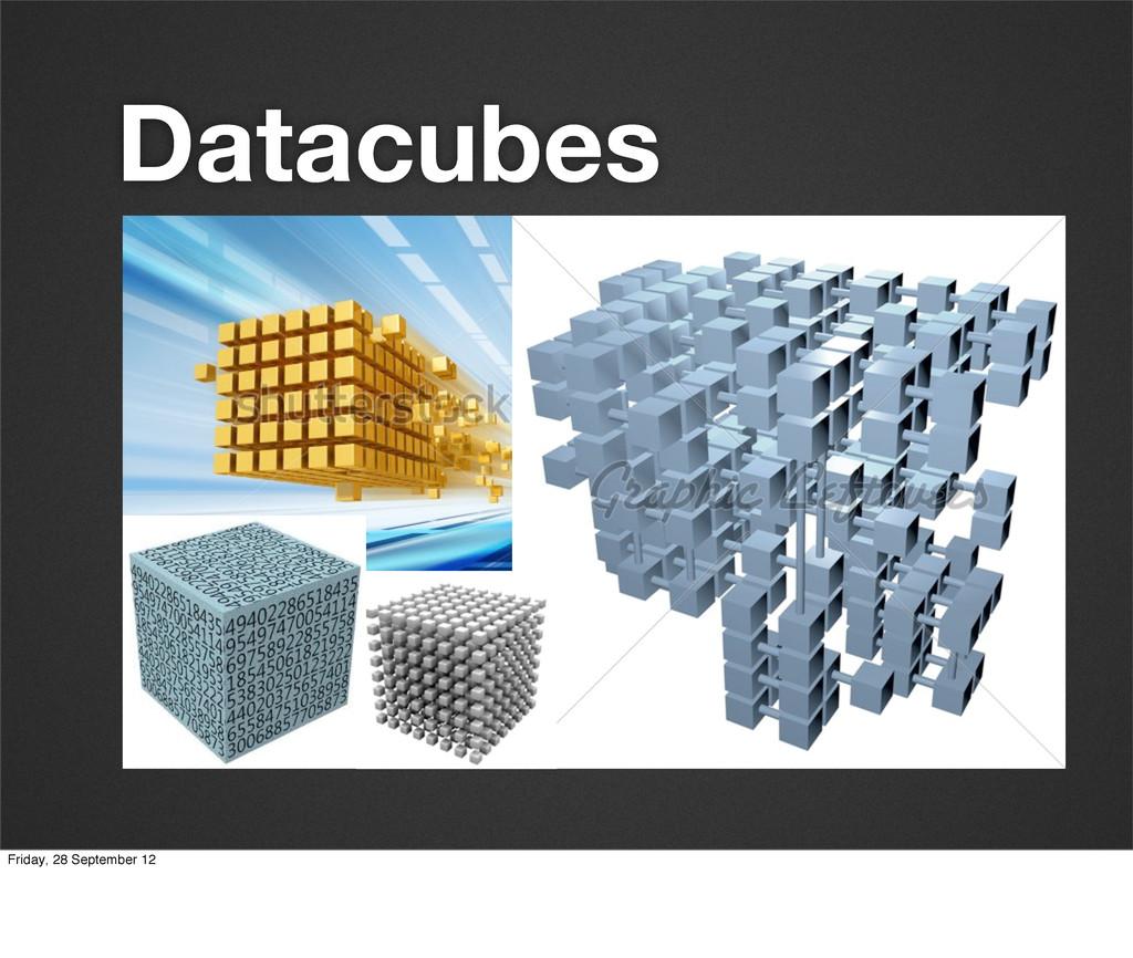 Datacubes Friday, 28 September 12