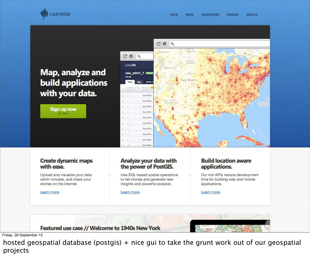 Friday, 28 September 12 hosted geospatial datab...