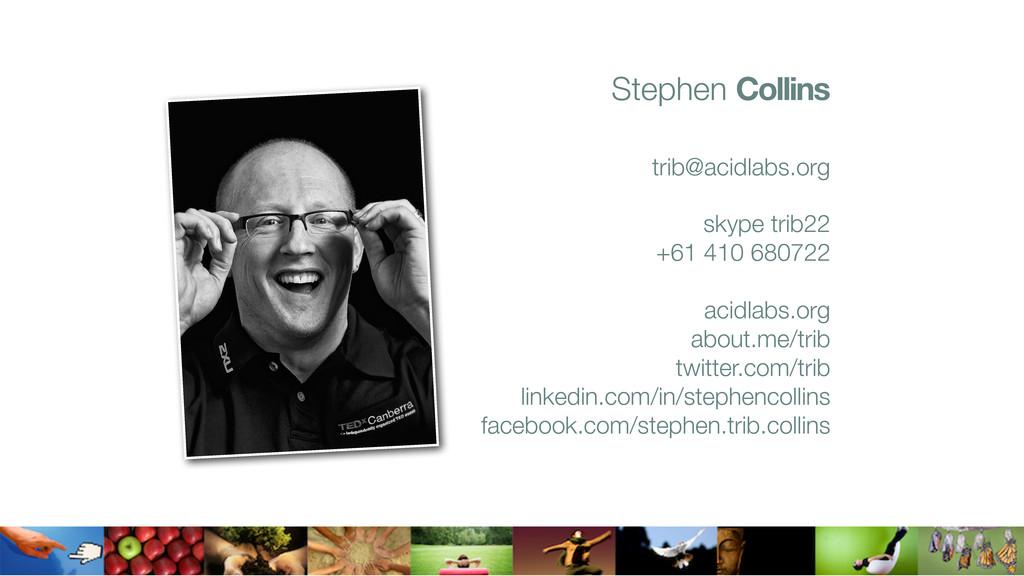 Stephen Collins trib@acidlabs.org skype trib22 ...