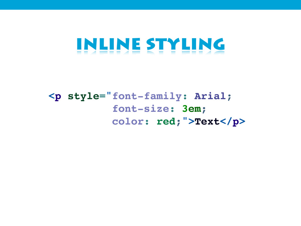 """inline styling <p style=""""font-family: Arial; fo..."""