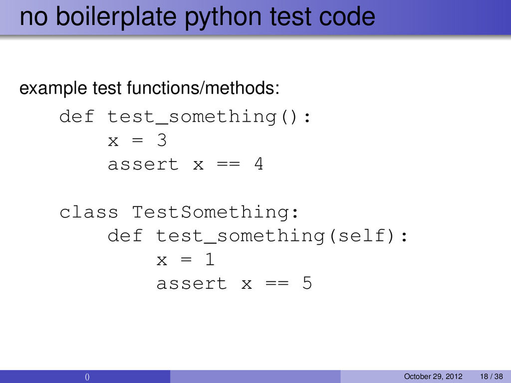 no boilerplate python test code example test fu...