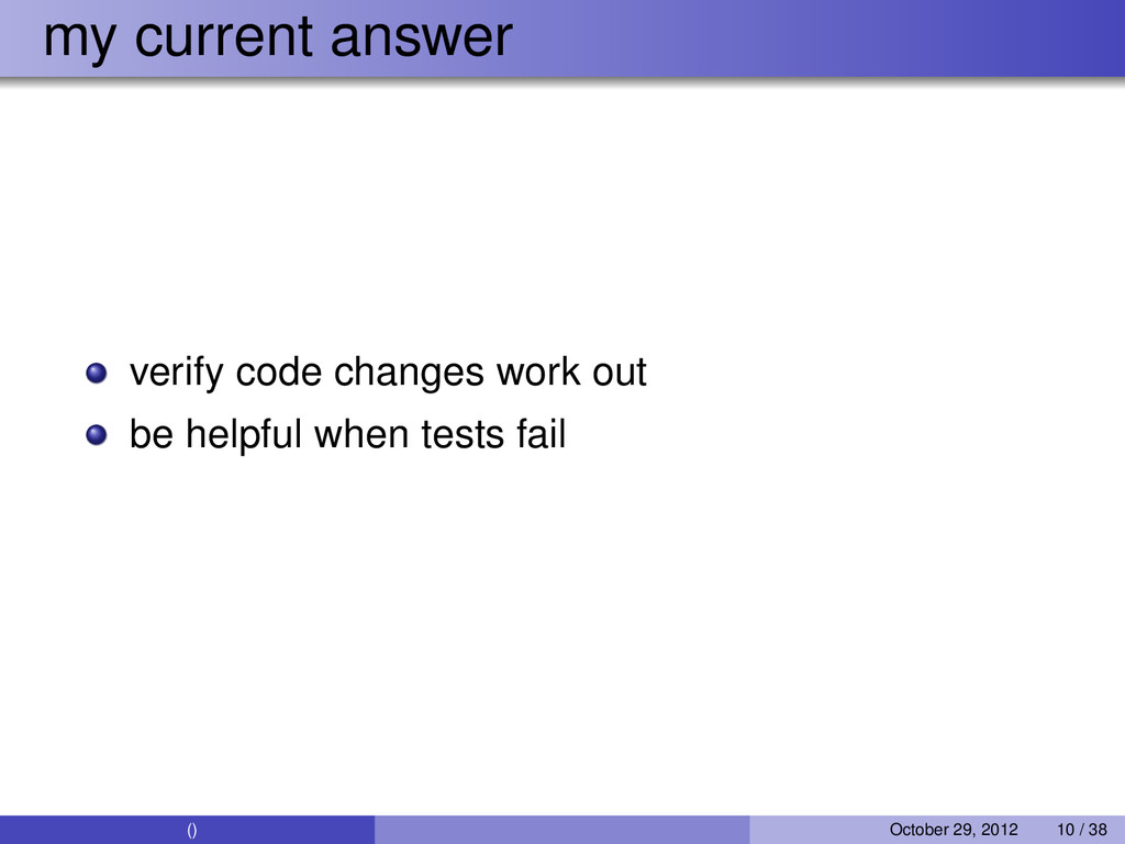 my current answer verify code changes work out ...