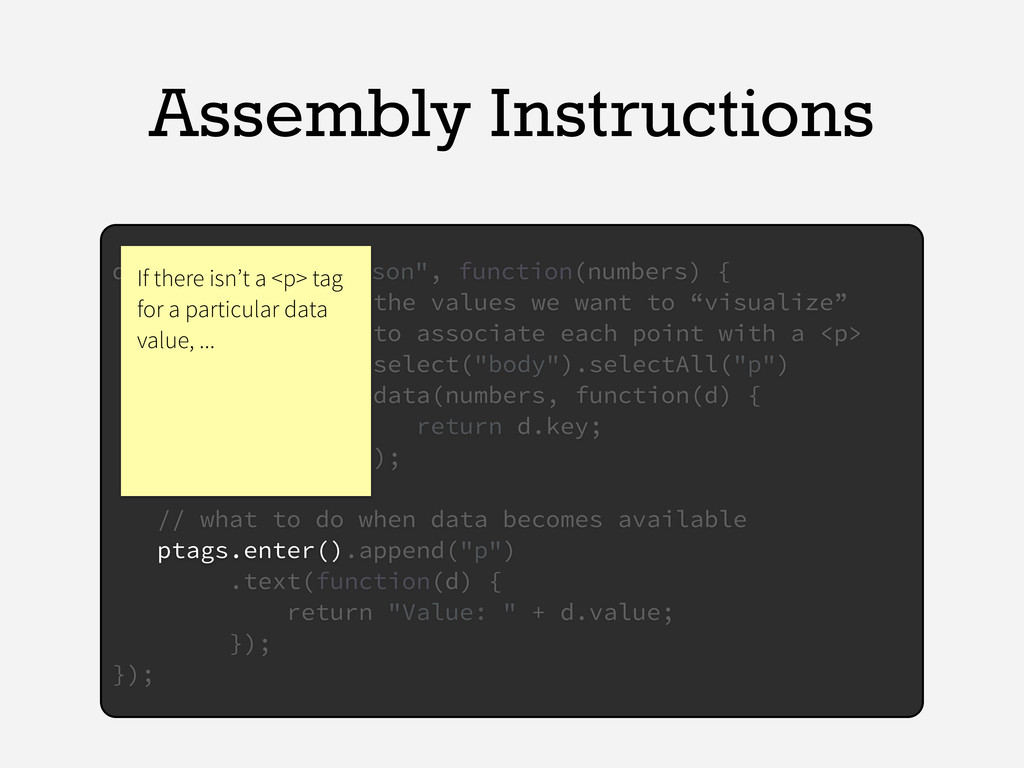 "Assembly Instructions d3.json(""numbers.json"", f..."