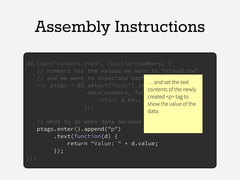 "Assembly Instructions d3.json(""numbers.json"", f..."