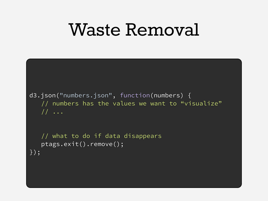 "Waste Removal d3.json(""numbers.json"", function(..."