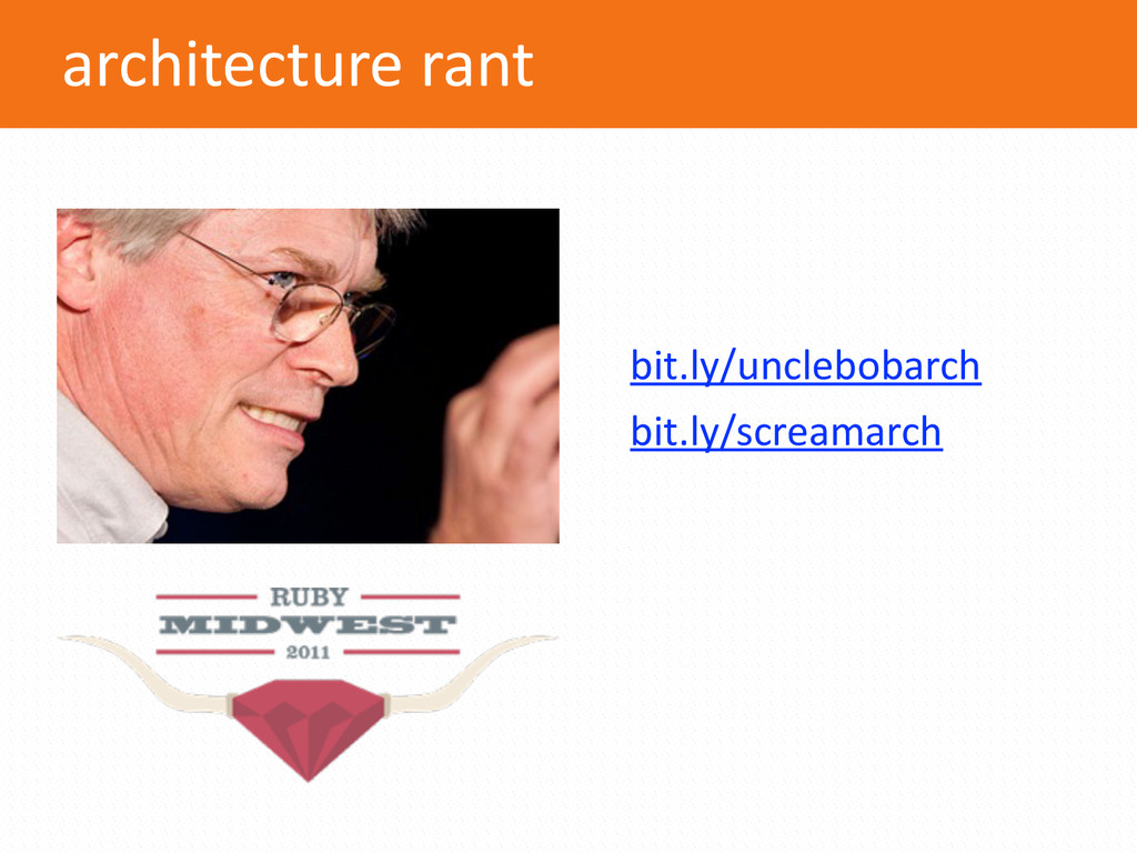 architecture rant bit.ly/unclebobarch  bi...