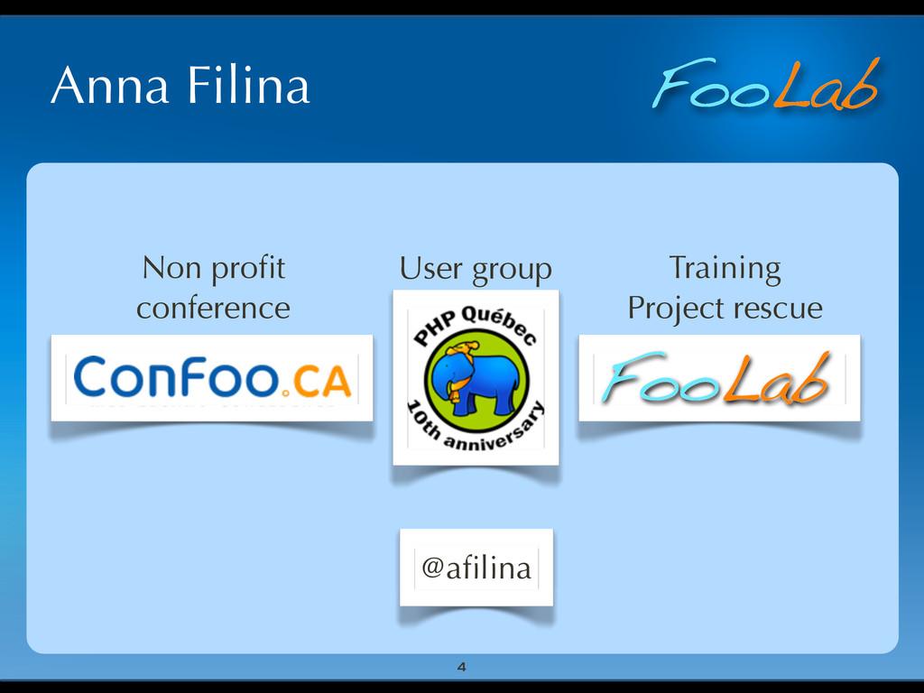 FooLab Anna Filina 4 User group Non profit confe...