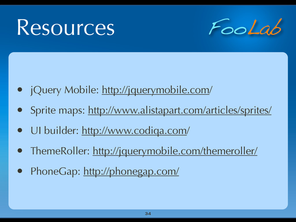 FooLab Resources • jQuery Mobile: http://jquery...
