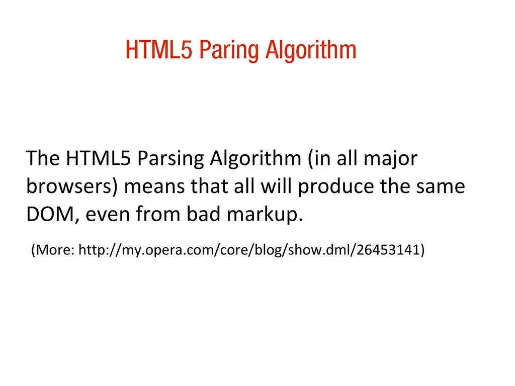 10/31/12 HTML5 Paring Algorithm The HTML5 Parsi...