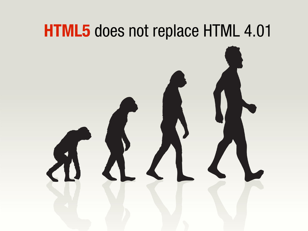 10/31/12 HTML5 does not replace HTML 4.01