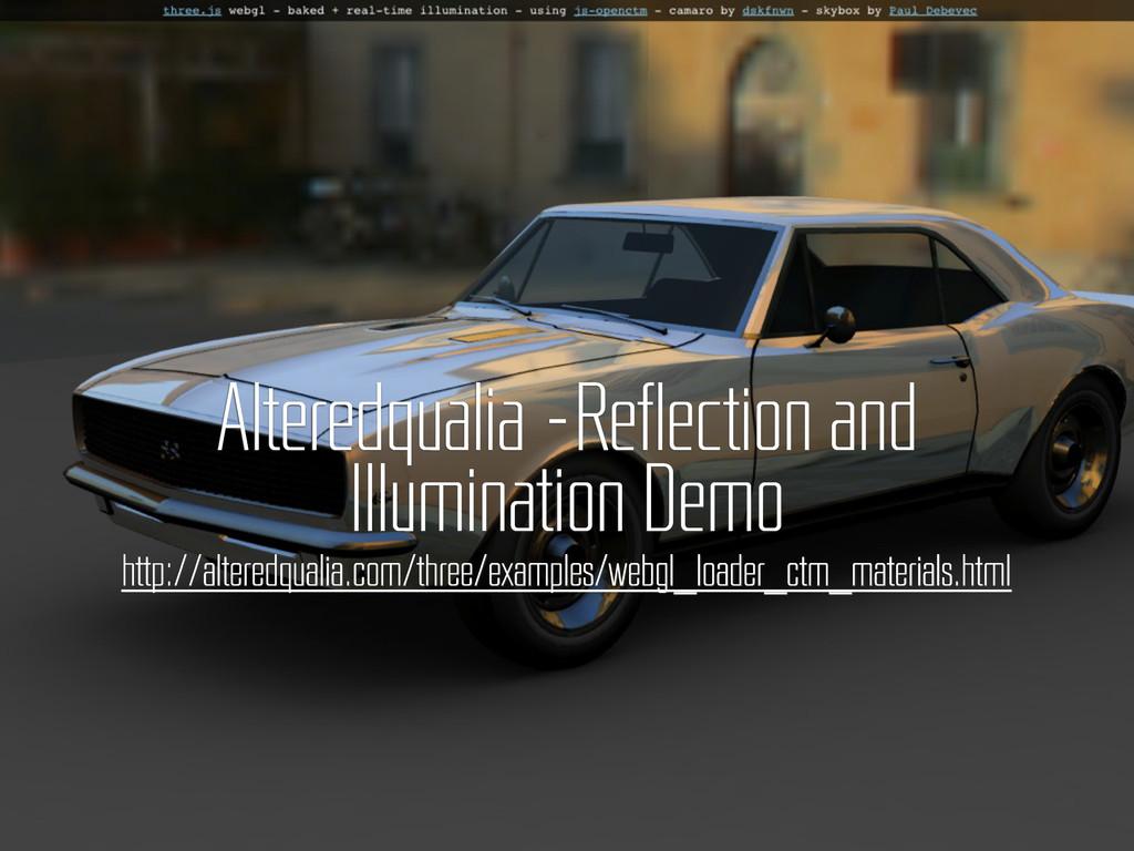 Alteredqualia –Reflection and Illumination Demo...